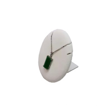 Base de exhibición redonda de la joyería de la PU del cuero del MDF (PN-WL-2)