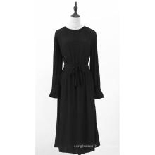 Женские черные платья с длинным рукавом