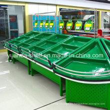 Estante de almacenamiento de exhibición de frutas y hortalizas para supermercado