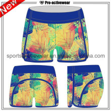 OEM hohe Taille Fitness Baumwolle laufende Frauen Shorts