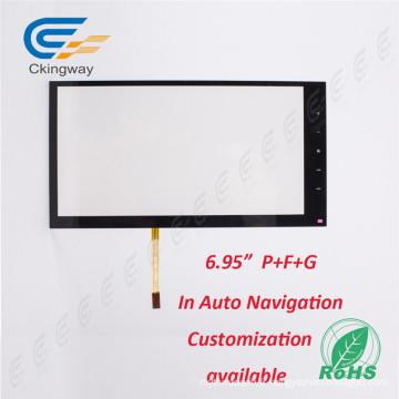 """6.95 """"Résolution 4096 * 4096 Revêtement interactif en verre tactile"""