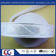 Fita reflexiva branca pura do PVC com estrutura de cristal