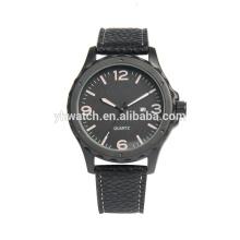 Men's Fashion Business Quartz Watch with Black Leather Strap