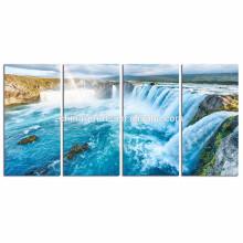 Impresión giclée de la foto de las caídas en lona / impresión de la lona del paisaje natural para el panel de la sala / 4 lona estirada