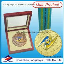 Kundenspezifische Medaillen Hersteller Kundenspezifische Medaillen Holzkiste des Herstellers