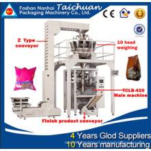 Multi cabeça pesando 99% de precisão vertical máquina de embalagem de arroz 1 kg com 10 cabeças de pesagem máquinas de embalar