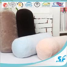 Candy Color Coral Fleece Protect Back Neck Column Cushion