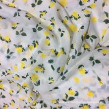 Yellow Rose Digital Printing Chiffon Garment Fabric
