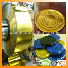 for twist off cap production lacquer tinplate and varnish coated tinplate coil and sheet