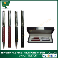 High Quality Business Gift PU Leather Metal Pen Set