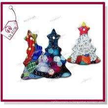 Сублимация покрытием Белый керамический дерево украшения для рождественских подарков