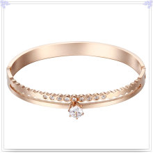 Fashion Jewelry Crystal Jewelry Stainless Steel Bangle (BR557)