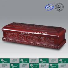 LUXES hadas Presidente chino artístico ataúd Funeral ataúdes de madera con tallas delicadas