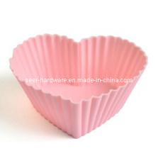 Molde em forma de coração do molde do gel do silicone (SE-293)