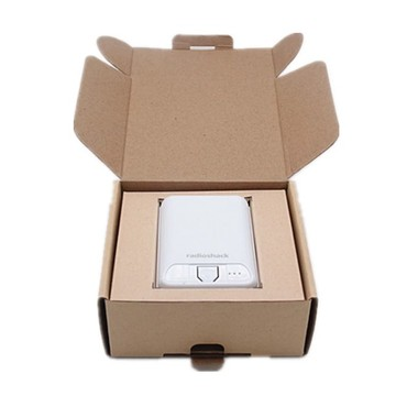 Kraft power bank packing box with logo