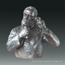 Large Figure Statue Telephone Bell Bronze Sculpture Tpls-078