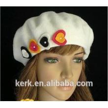 2015 new plush winter angora custom berets hat
