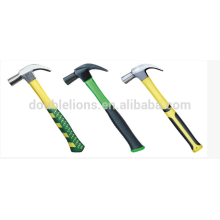 one piece claw hammer with double color handle high quality