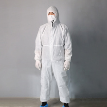 Vestido médico descartável com capa protetora à prova d'água