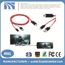 MHL Micro USB vers HDMI TV Adaptateur de câble AV HDTV pour SAMSUNG Galaxy S3 / S4 / Note 2