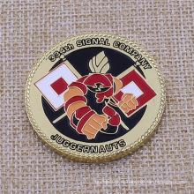 Пользовательский цвет логотипа заполнен как монета Имитация золота Покрытие Сувенирная монета