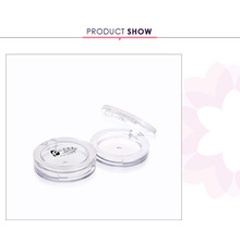 2015 New round empty compact powder case for cosmetic case