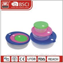 Récipient de nourriture en plastique carré défini 0.3L/0.8L/1.75L 3pcs