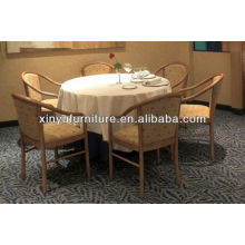 Round restaurant table and wooden chair XY0803
