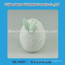 Popular butterfly designed Ceramic Salt&Pepper Shaker for Kitchen