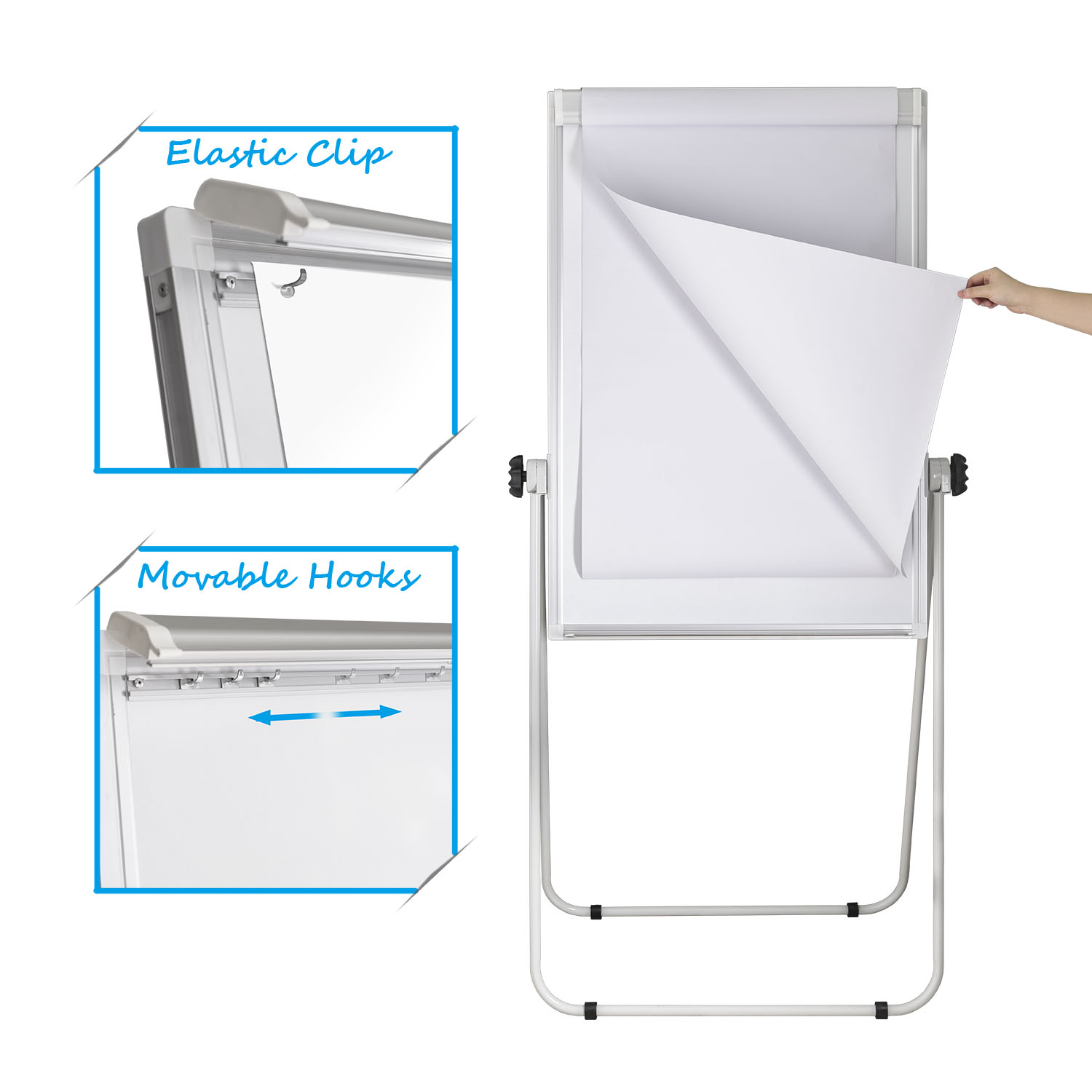 Double Sided Whiteboard Flipchart Easel