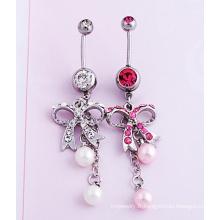 Bow diamant perle nombril bijoux Piercing bijoux fantaisie