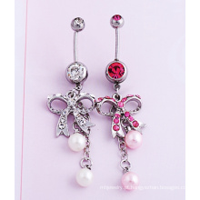 Arco diamante pérola umbigo joias moda joia Piercing