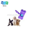 Dog waste bag dispensing bins and biodegradable bags