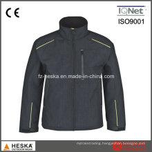 New Design Melange 3 Layer Men′s Softshell Jacket