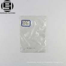 Tamanho pequeno de plástico transparente pe zip lock saco de embalagem