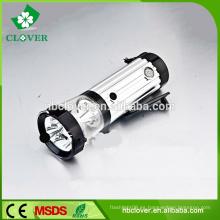 Brillo estupendo 3 + 4 + 2 leds de alta potencia mano recargable linterna led