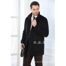 Usine personnaliser les styles classiques hommes manteaux d'hiver en cachemire
