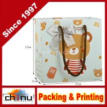 Art Paper Wihte Karton Papier Einkaufstasche (210003)