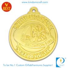 Medalha personalizada da lembrança do chapeamento de ouro do preço de fábrica 3D com liga Satmping