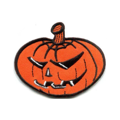 Halloween Pumpkin Witch Ghost Haunted Embroidery Patch