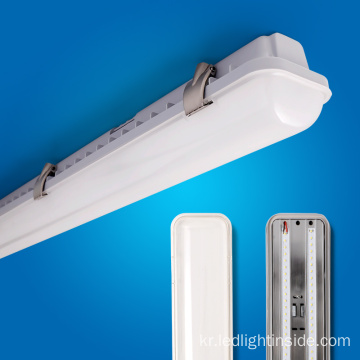 밀키 / 투명 커버 LED 4ft 20w 40w LED Tri-proof Lighting