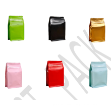 Plastic Box Pouches for Coffee Beans