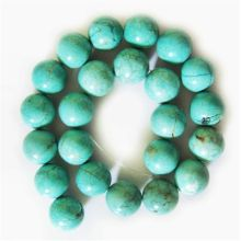 Perles rondes turquoise 18 mm