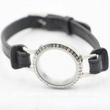Bijoux en cuir personnalisé en acier inoxydable Bracelet en cuir