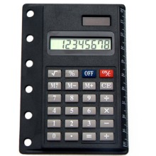8 Digits Pocket Notebook Card Calculator with Ruler