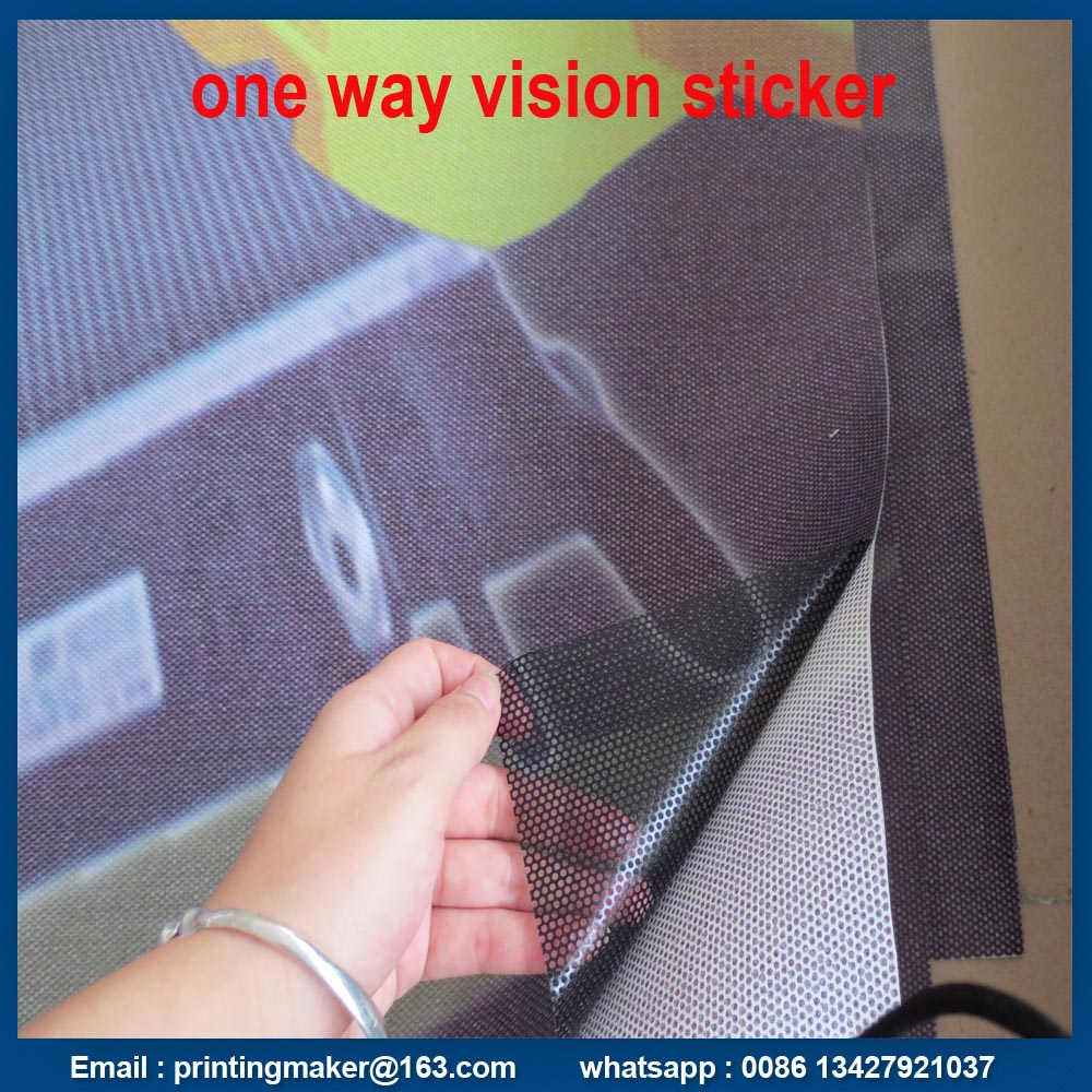 Perforated Vinyl One Way Vision Glass Sticker