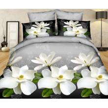 100% Polyester Microfiber Brushed 3D Water Lily Design Duvet Cover Bedding Sets
