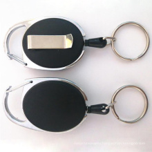 Amazon Hot Sale Retractable Badge Reel With Carabiner Clip And Heavy Duty Id Card Holders Keychain