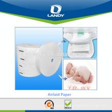 Matéria prima do bebê fralda Airlaid com SAP