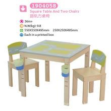 Mesa cuadrada y dos sillas Muebles para niños Muebles para niños